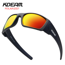 Мужские спортивные солнцезащитные очки KDEAM, солнцезащитные очки в оправе TR90 с поляризационными зеркальными линзами, уличные очки с защитой UV400, 5 цветов, чехол KD555, 2019