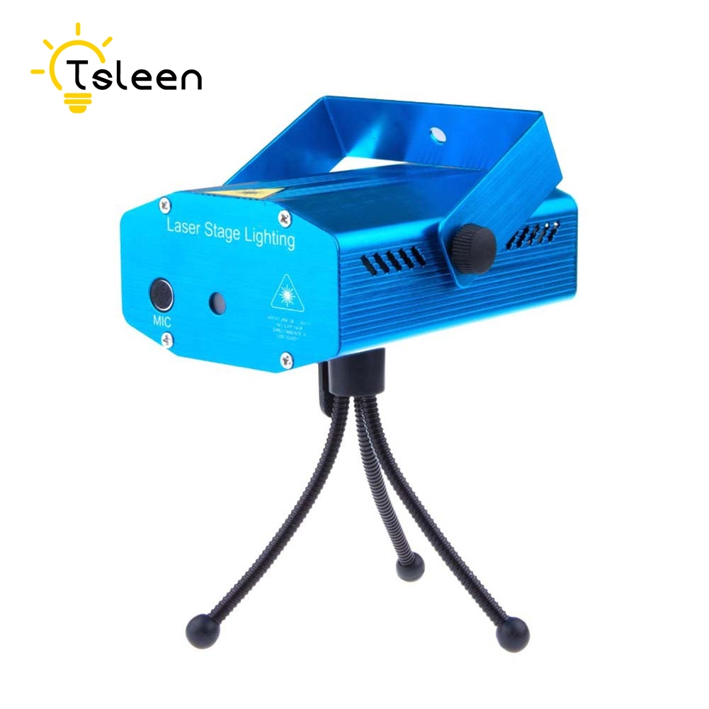 DiscoParty Show Light light Mini Laser Projector DMX LED Stage Lighting Professional DJ Equipment Strobe Dance Disco Light Home