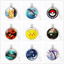 Pokemon Go Anime Necklace 2016 New Pokemon Inspired Pendant Necklace Collares Jewelry Gift Jewelry Eevee Pokeball