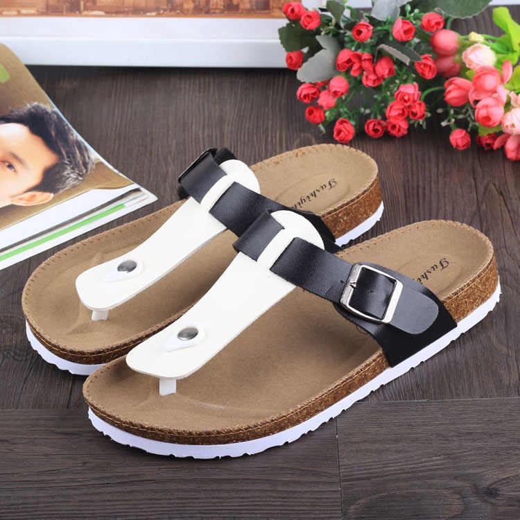 5f3e6a51da2 ... fashion women slippers flip flops summer beach cork shoes slides girls  flats sandals casual shoes mixed ...