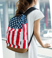 2017 New fashion Canvas schoolbags national flag design backpack with zipper school bags for teenagers students free shipping