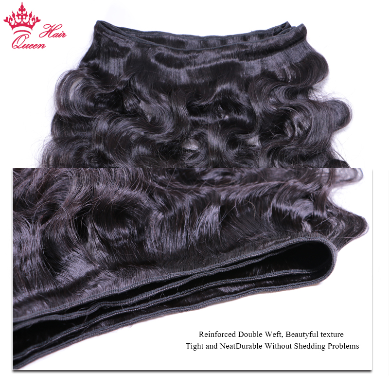 Queen Hair Products Brazilian Virgin Hair Body Wave 3pcs lot Wefts 100 Human Hair Bundles Deal Natural Color Free Shipping in 3 4 Bundles from Hair Extensions Wigs