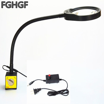 FGHGF PD-32A Industrial production LED lights Magnet base adsorption 10 times magnifying glass Machine work light Handmade