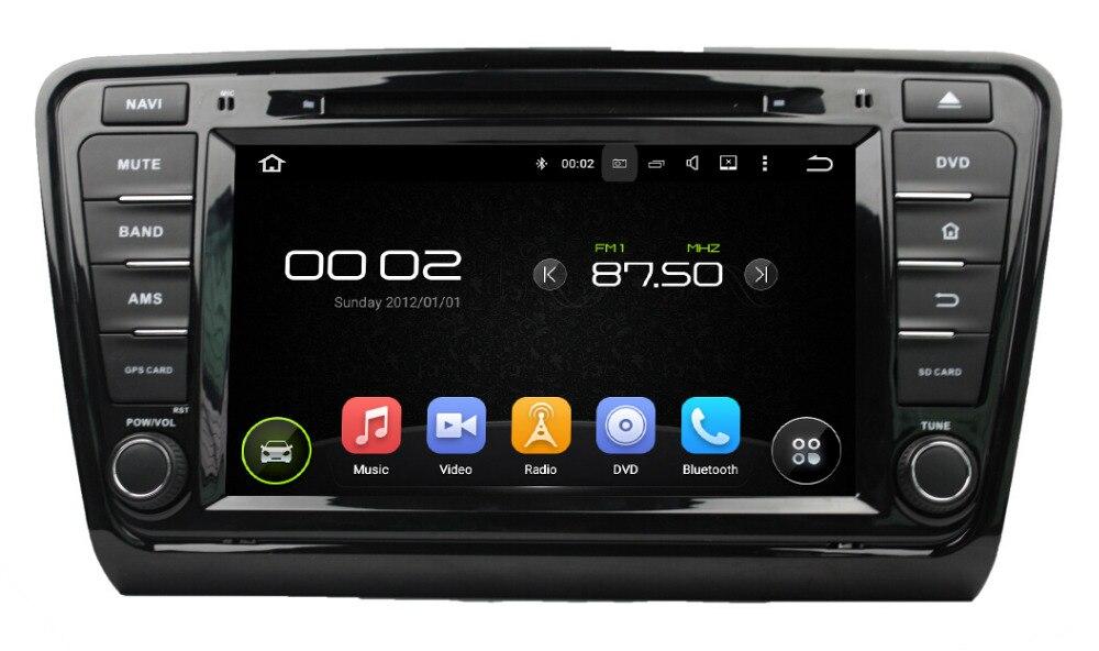 quad core android 5 1 car dvd gps navigation for skoda. Black Bedroom Furniture Sets. Home Design Ideas