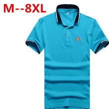 Plus size 9XL 8XL 7XL 6XL 5XL New Men Polo Shirt Men Business & Casual solid male polo shirt Short Sleeve breathable polo shirt