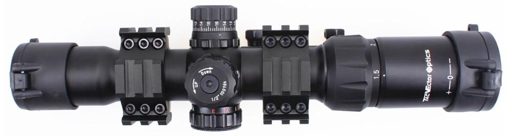 Οπτικό διάνυσμα 4-12x40 Tactical Scoop Scope w / - Κυνήγι - Φωτογραφία 5