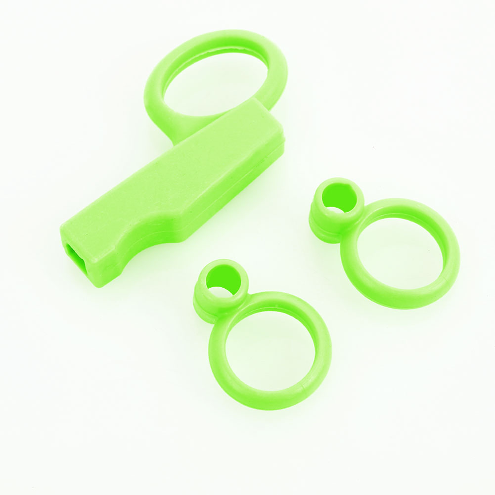 Chopstick аксессуары для кормления ребенка инструмент тренировочные палочки для еды кольцо 3 шт. силиконовые обеденные кухонные домашние милые тренировочные палочки для еды - Цвет: green