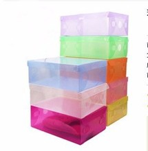 High Quality 10pcs/lot Foldable Plastic Shoe Storage Case Boxes Stackable Organizer Shoe Holder Easy DIY