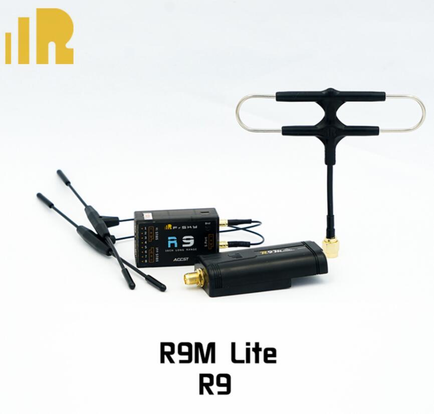 Module émetteur Frsky R9M LITE avec récepteur R9/R9slim +/R9 mini/R9MM et antenne super8 combinée pour Drone quadrirotor RC