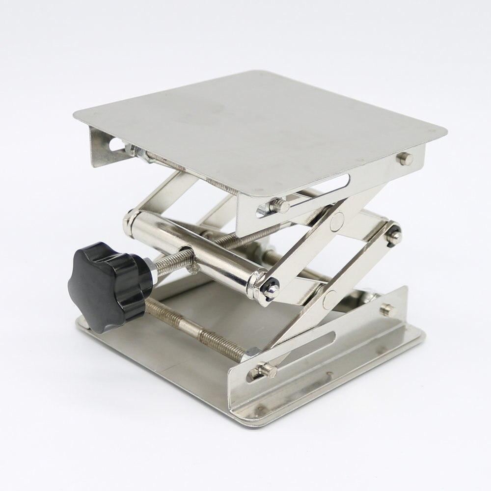 6X6'' Steel Lab-Lift Lifting Platforms Lab Jack Scissor Stand Rack 150X150X250mm