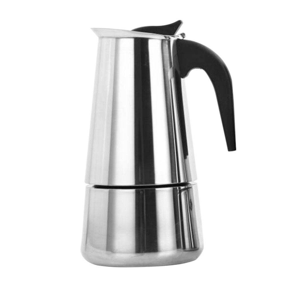 Stainless Steel Coffee Maker Pot Mocha Moka Espresso Latte Stovetop Coffee Pot Filter 100ML 200ML 300ML 450ML Coffee Machine (9)