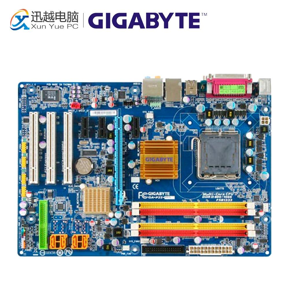 Gigabyte GA-P35-DS3L Desktop Motherboard P35-DS3L P35 LGA 775 DDR2 8G SATA2 ATX asus p5k se epu original used desktop motherboard p35 socket lga 775 ddr2 8g sata2 usb2 0 atx