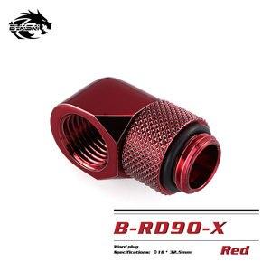 Image 4 - BYKSKI G1/4 90 度回転フィッティング/真鍮のアクセサリー水冷却アダプタ B RD90