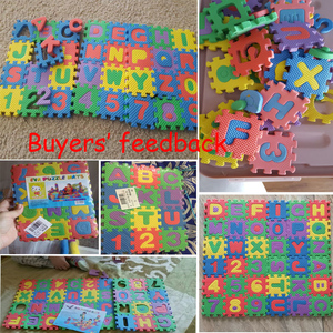 Image 2 - 36 pz/set Del Bambino di Gioco del Gioco Zerbino s Alfabeto Numeri Per Bambini Kids Play Zerbino Bambini Pavimento Morbido Strisciare Tappeti Mini EVA schiuma Zerbino