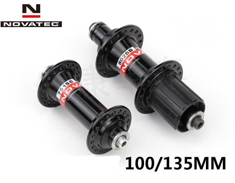 28/28 32/32 36/36 trous NOVATEC vtt v-brake moyeux de vélo 751SB/802SB 100mm 135mm noir rouge argent
