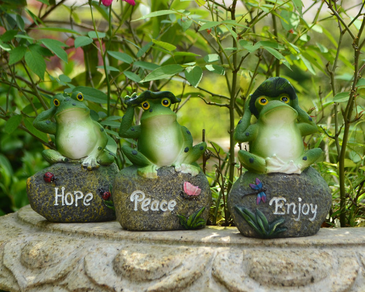 Hot Sale Frog Sitting On Stone Statue Figurine Model Outdoor Statue,Enjoy,Hope  And Peace Home Garden Decor In Figurines U0026 Miniatures From Home U0026 Garden On  ...