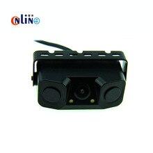 3 IN 1 Video Parking Sensor Car Reverse Backup Rear View Camera with 2 Radar Detector Sensors BiBi Alarm Indicator