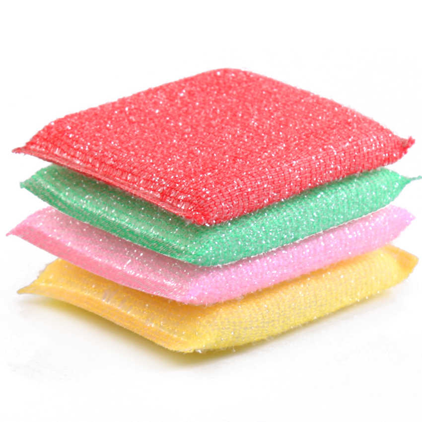 1PC Scouring Scour Scrub Cleaning Pads Kitchen Sponges Brush Duster Dish Washing Home Helper Wiper Cleaner Accessories
