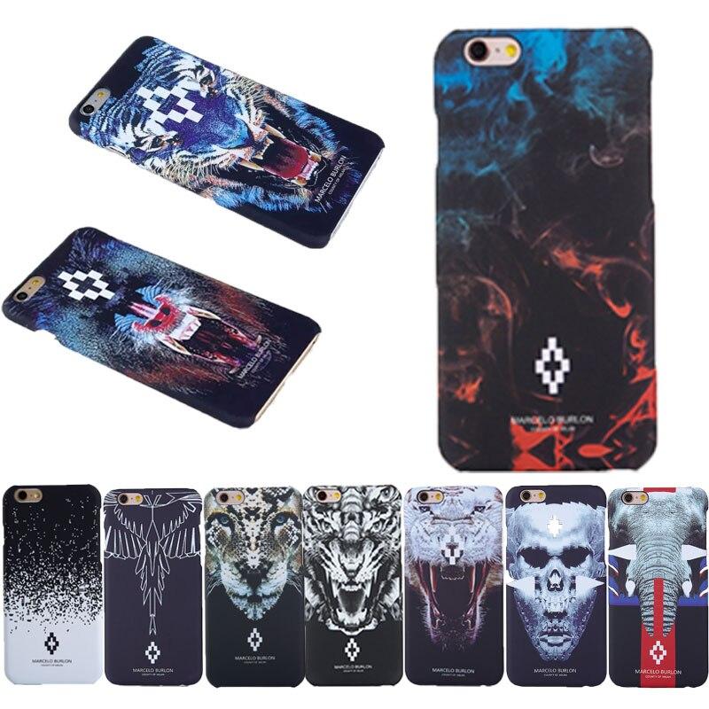 watch 76c7e 17150 US $4.07 15% OFF|Animal PC Burlon Cases for Coque iPhone 7 6 5S SE Marcelo  burlon Case Tiger Lion Fundas for iPhone 6 6s 7 plus Marcelo Cover-in ...