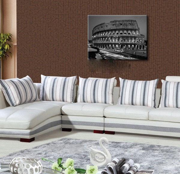 클래식 캔버스 그림 로마 콜로세움 흑백 로마 풍경 벽 예술 홈 장식 무료 배송