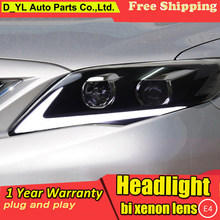 D-YL Car Styling for Toyota Corolla Headlights 2011 Corolla LED Headlight DRL Bi Xenon Lens High Low Beam Parking Fog Lamp(China)