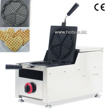 Commercial Non-stick LPG Gas Rotated 4-slice Heart-shaped Waffle Iron Maker Baker Machine