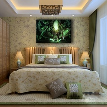 HD Print 1 Pieces Horns Wolf Painting For Bedroom Decorative Wall Art Canvas Picture Fantasy Elf Keeper Of The Forest Poster