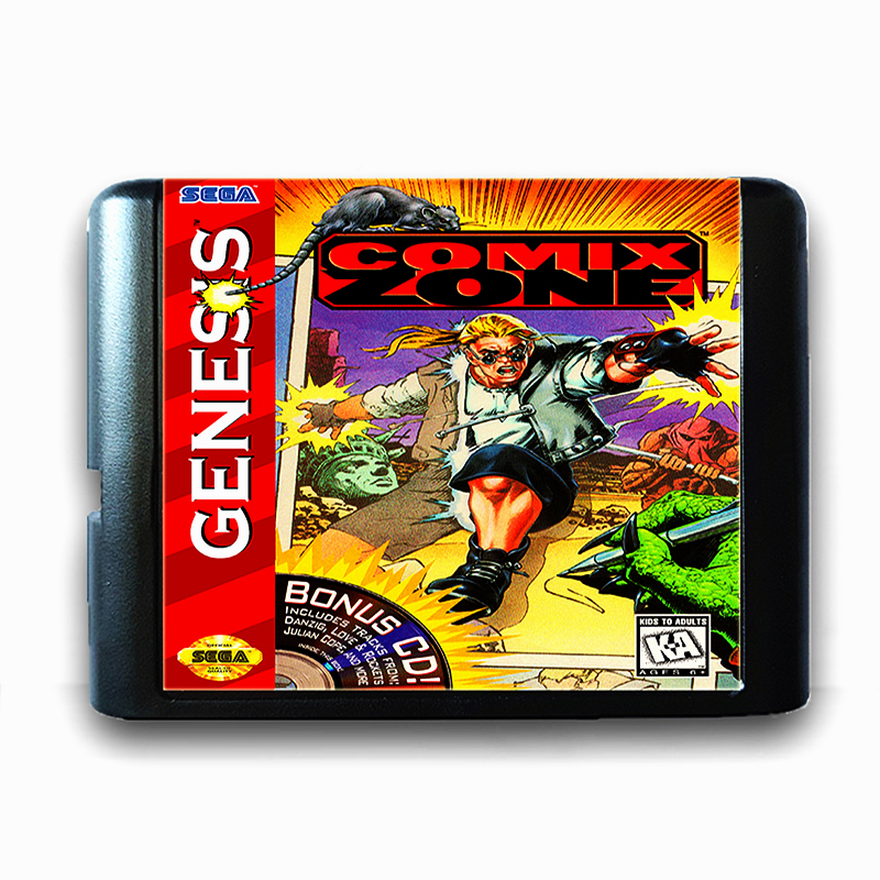 Comix Zone 16 bit Sega MD Game Card for Mega Drive for Genesis
