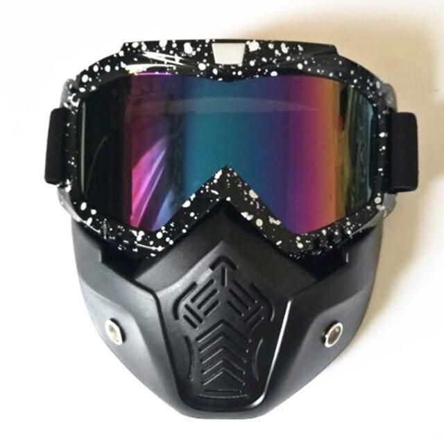e498429fea4c Новая велосипедная маска для лица зимние спортивные лыжные сноубордические  очки Ветрозащитная маска для лица велосипедные мотоциклетные