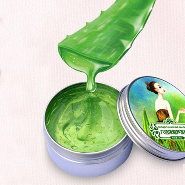 30g 100% puro Natural de Gel de Aloe Vera eliminación de arrugas hidratante Anti acné Anti-sensible Control de aceite Aloe vera crema solar
