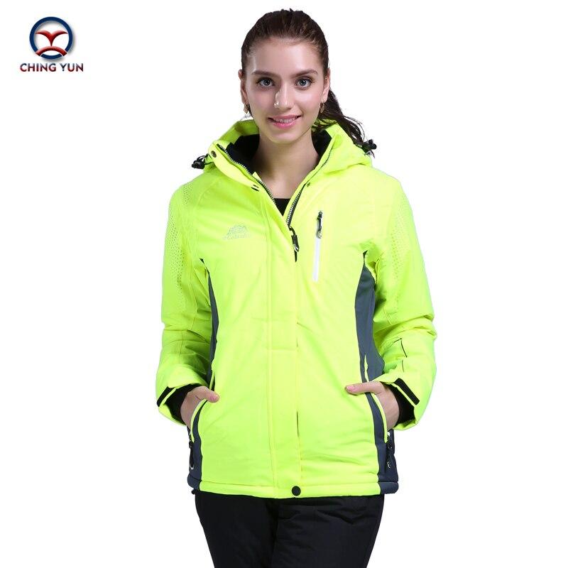 2016 women winter new ski suit thermal cotton patchwork waterproof women's sports sets outdoor skiing snowboard jacket trousers цены онлайн