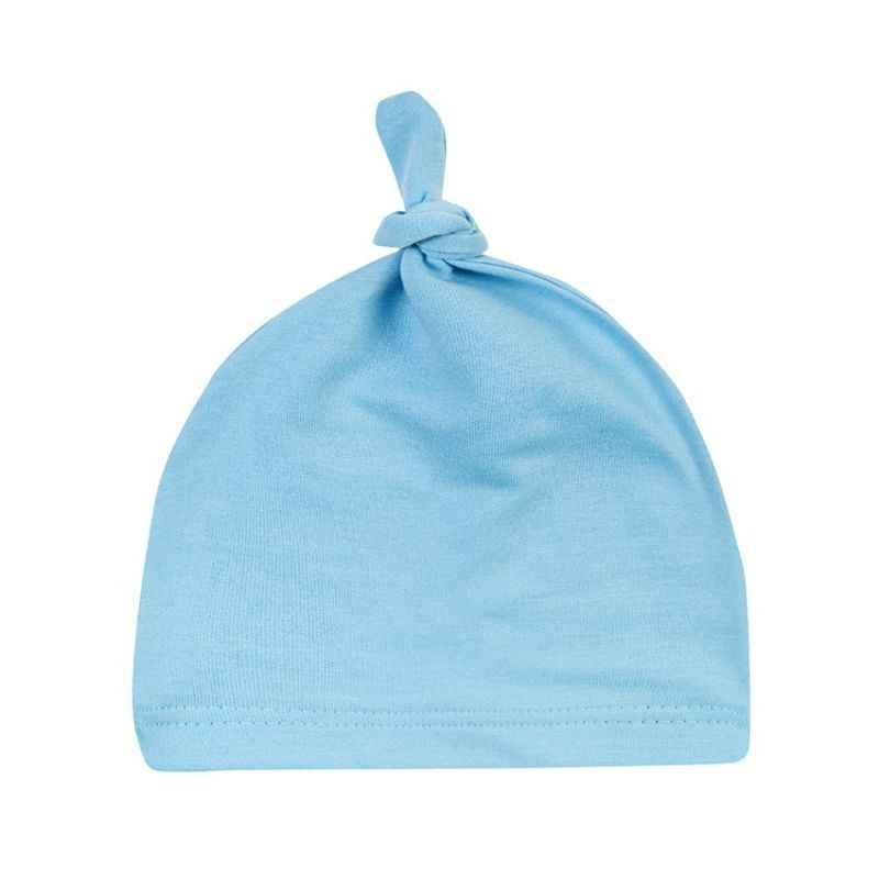 신생아 아기 코튼 매듭 Beanies 유아 소녀 수면 모자