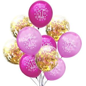 Image 5 - LAPHIL Baby Shower, 10 шт., латексные детские шары для 1 го дня рождения мальчиков и девочек, украшения для первого дня рождения, дети, я один