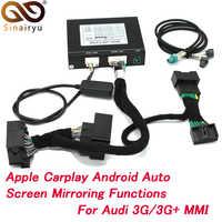 2019 nouveau IOS voiture Apple Airplay Android Auto CarPlay boîte pour Audi A1 A3 A4 A5 A6 Q3 Q5 Q7 écran d'origine mise à niveau système MMI