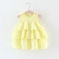 Summer Baby Girls Sleeveless Dot Pattern Cake dress Sundress Princess Party Kids Dress vestido infantil