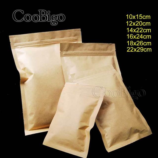 1 шт. термопечать плоский тип клапан ziplock Kraft бумажный пакет сумки W/матовый конфеты печенье дой-Пак молния чехол для хранения