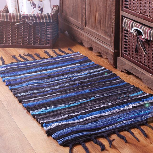 area rug for home Mediterranean Style Cotton rugs and carpets floor ...
