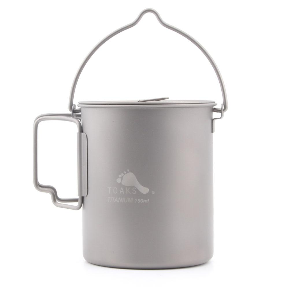 TOAKS Ultralight 750ml Titanium Pot  Portable Titanium Water Mug Outdoor Camping Cooking Picnic POT-750 POT-750-NH POT-750-BH термокружка emsa travel mug 360 мл 513351