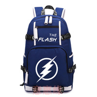 The Flash Backpack Cosplay Game Canvas Bag Luminous Schoolbag Travel Bags