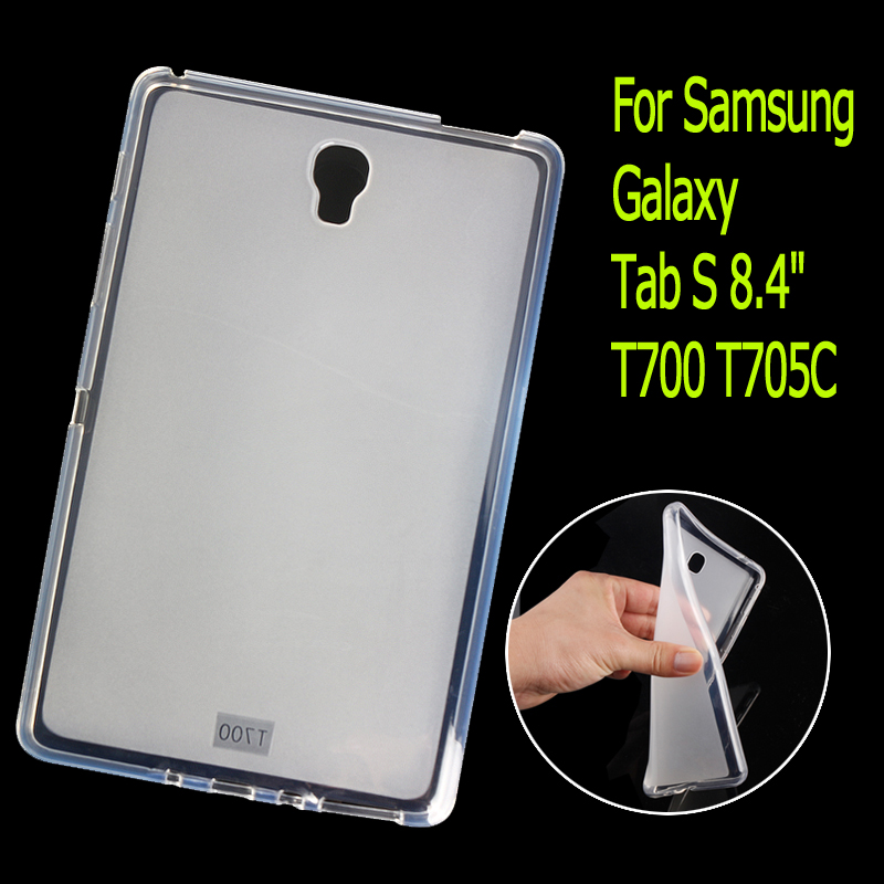 T700 Soft TPU Rubber Cover Semi transparent Back Case for Samsung Galaxy Tab S 8.4 T700 T705C Silicone Case t700 soft tpu rubber cover semi transparent back case for samsung galaxy tab s 8 4 t700 t705c silicone case