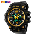 Skmei 1155 Men Digital Watch Big Dial Dual Display Military Wristwatch Waterproof Auto Date Calendar Sports Watches