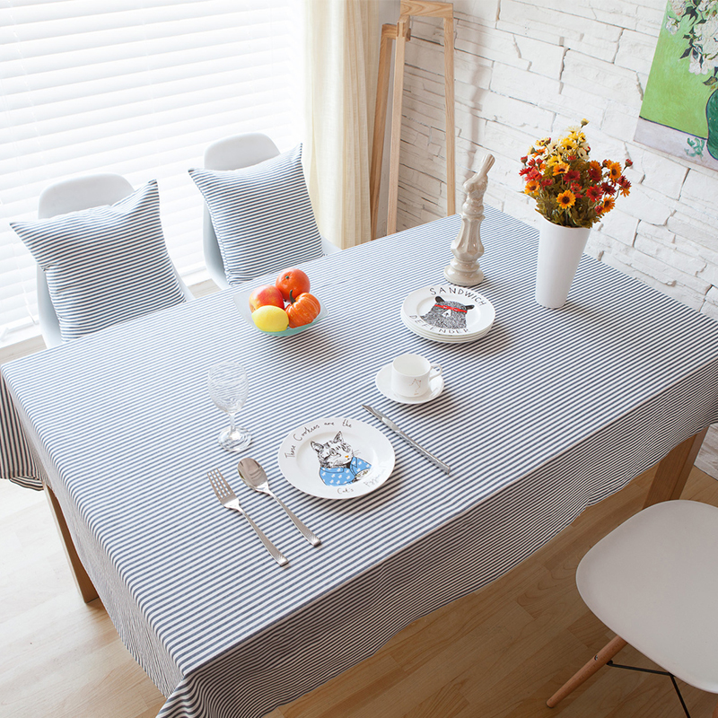 tablecloth striped solid christmas tablecloth red blue oil cloth table cloths toalha de mesa decorations wedding