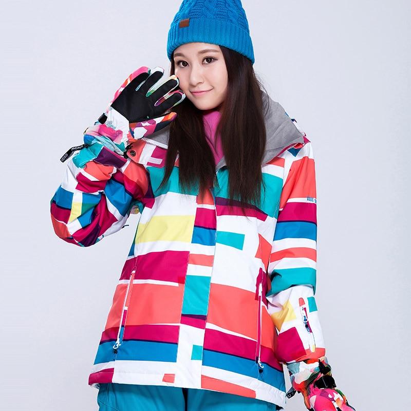 Prix pour NOUVELLE Hiver Ski Vestes Femmes Gsou Neige Marque Professionnel Snowboard Veste Imperméable 10000 Respirant 1000 Dames de Neige Manteaux