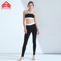 Syprem Patchwork Sports bra+Leggings High Quality Tracksuit for Women's Suits New Style Fitness Sport Suit Women 2 Piece Set