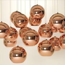 Nordic modern glass round ball pendant light glass lampshade Inside Mirror lighting E27 LED indoor Home hanging light fixtures inside interiors of colour fabric glass light
