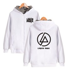 ALIZAZA New Winter Jackets Coats Linkin Park hoodie Anime Luminous Hooded Sweatshirts Men ZIPER THICKEN