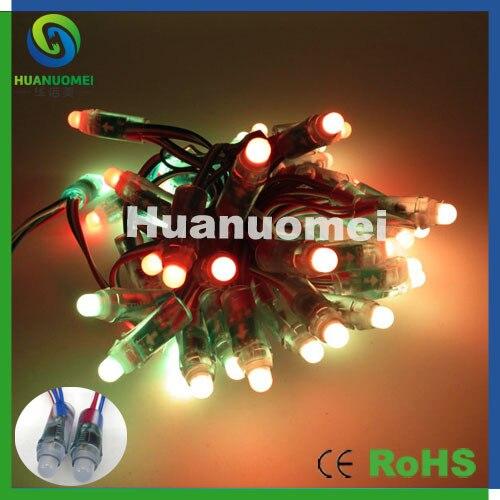 200 leds/paquet, IP68 12mm 12 V a mené la lumière de module de pixel led rvb de couleur courante de la chaîne ws2811 de pixel