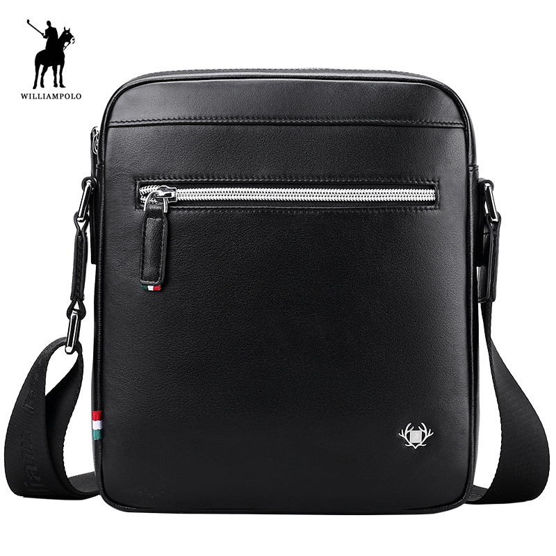 WILLIAMPOLO 2018 New Fashion Men Bag Waterproof Messenger Bags Business Casual Briefcase Crossbody Male Shoulder Bag POLO012D new male package canvas casual men s shoulder bag korean student bags solid messenger bags multifunctional men crossbody