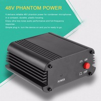 New 48V 1 Channel Phantom Power Supply with One XLR Audio Cable for Condenser Microphone Studio Music Voice Recording Equipment
