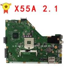Для ASUS X55A материнская плата интеграции REV: 2.1 sjtnv DDR3 испытания Бесплатная доставка